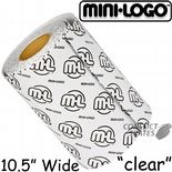 "MINI LOGO ""Clear"" Skateboard Griptape Grip Tape 10.5"" Wide Longboard Old Skool Choose length Transparent"